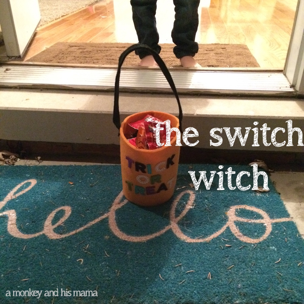 the switch witch halloween tradition// amonkeyandhismama