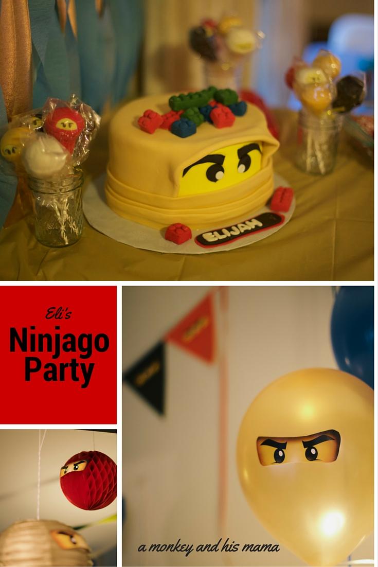 ninjago birthday party // a monkey and his mama