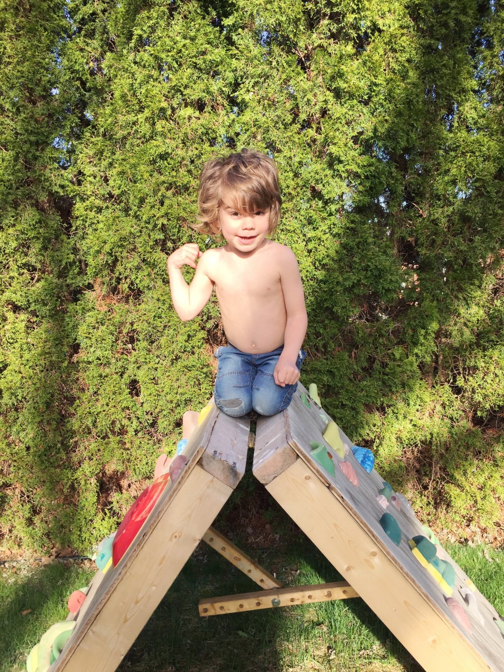 eli's climbing wall // a monkey and his mama