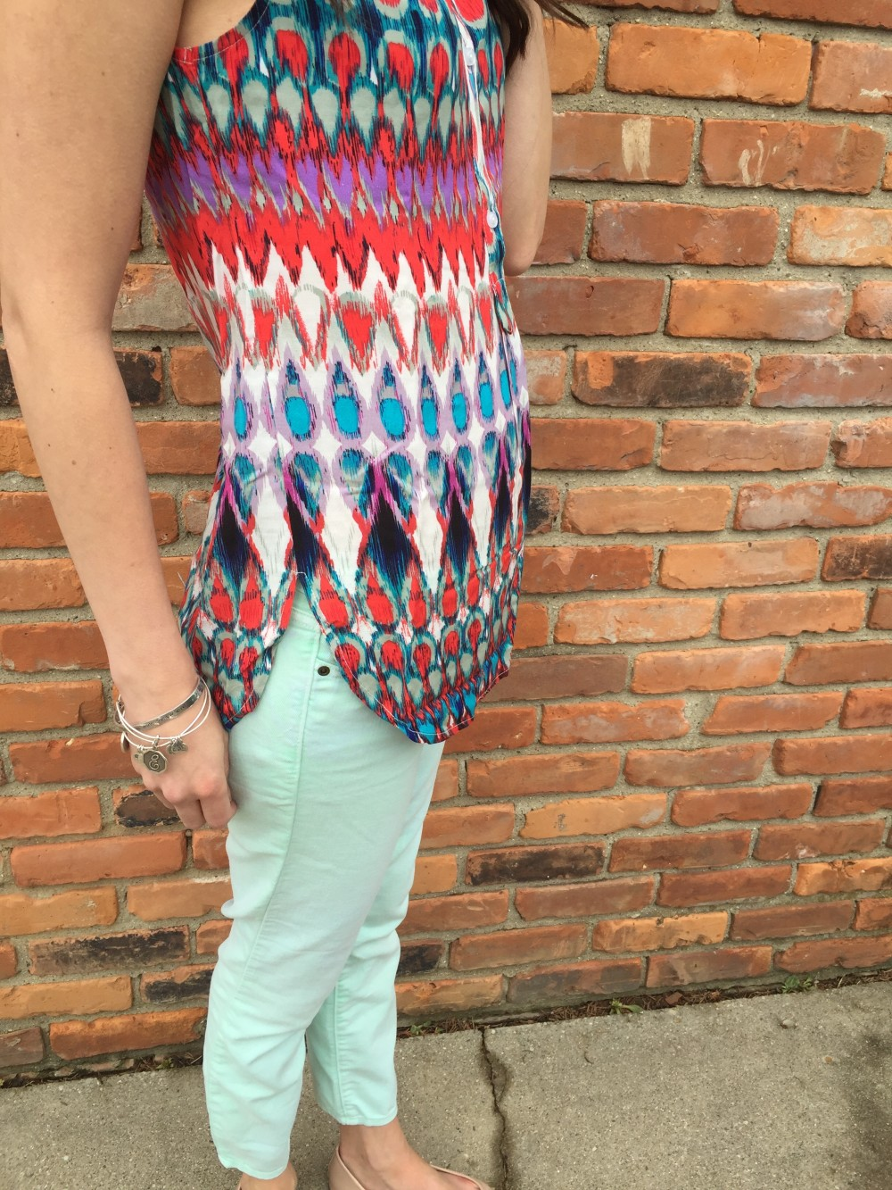 coval v neck top by market and spruce, from my May 2016 Stitch Fix // a monkey and his mama