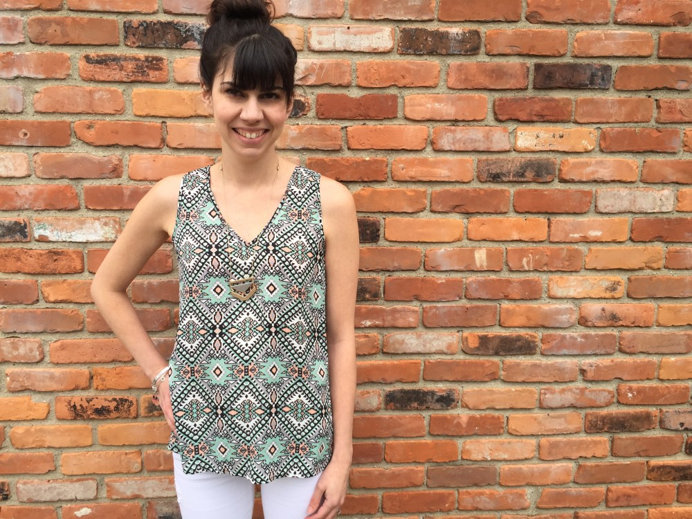 bosley v neck blouse, by fun2fun, from my May 2015 Stitch Fix // a monkey and his mama