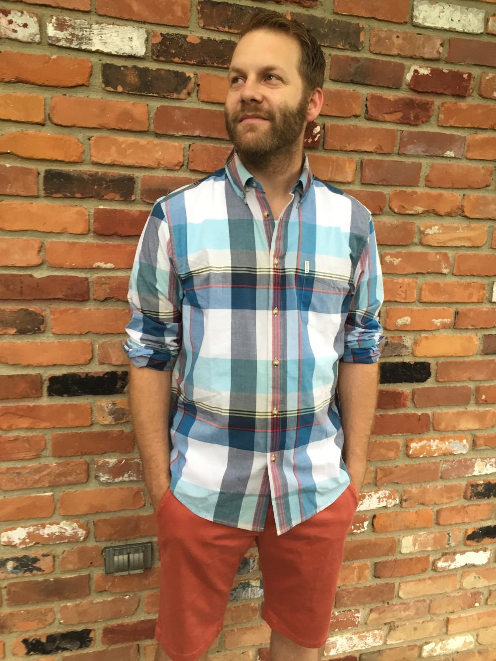 Ben Sherman Colma Button Down Shirt and Mavi Jacob Twill Shorts // Stitch Fix Men // a monkey and his mama