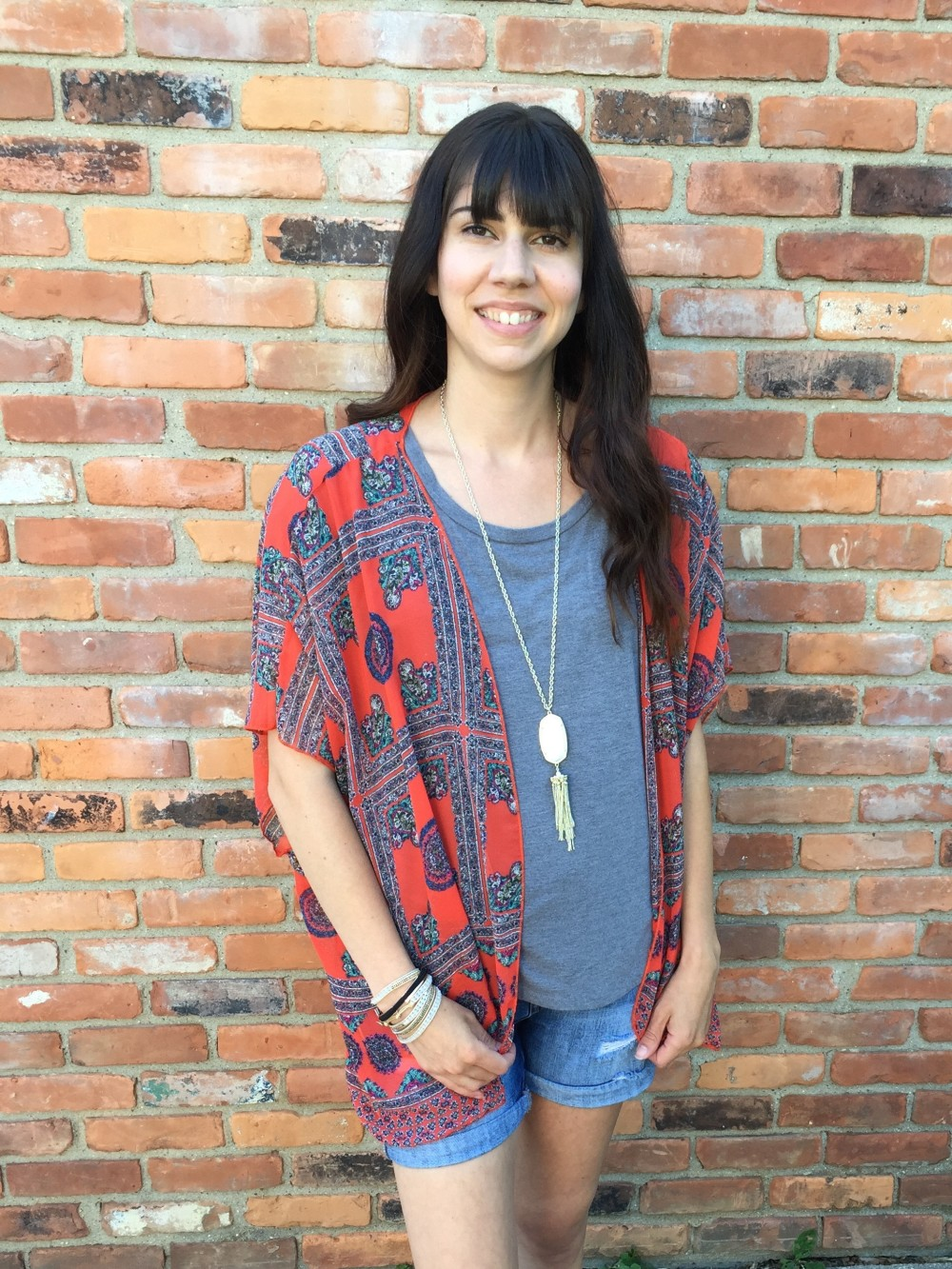 Mauna Kimono by papermoon from my Summer Stitch Fix Box June 2016 // a monkey and his mama