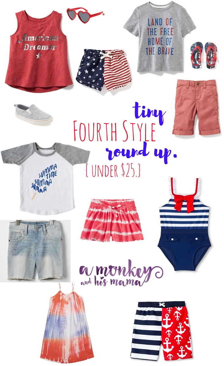 Tiny Fourth Style Round Up, under $25. a monkey and his mama