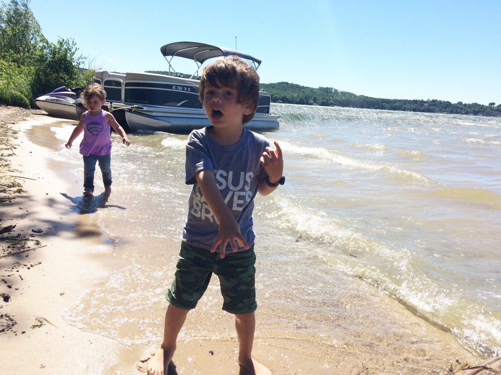 must-haves for a day at the lake with toddlers and preschoolers // a monkey and his mama