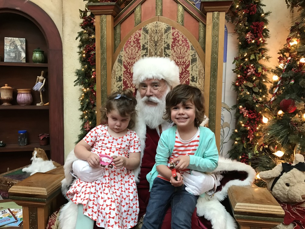 santa visit at somerset mall // a monkey and his mama