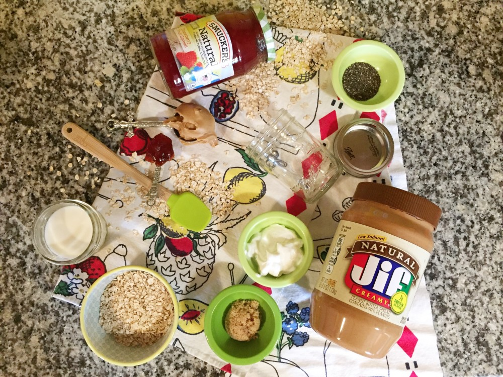 easy overnight oats // pb&j // a monkey and his mama