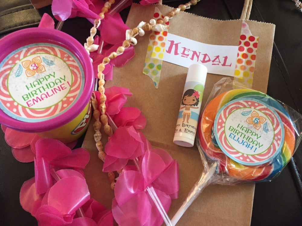 moana birthday party goodie bags // a monkey and his mama