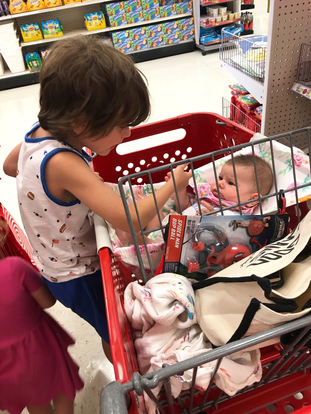 grocery shopping with 3 kids
