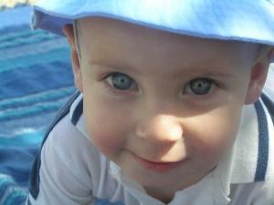baby boy in summer hat