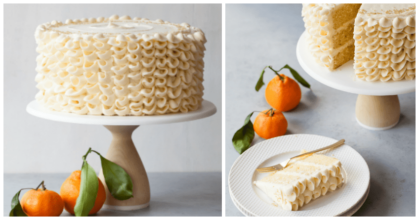 Everyone Will Love this Fancy Champagne Mimosa Cake