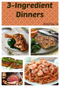 3-ingredient dinners - a huge collection of easy meals