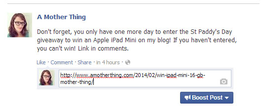 Using Facebook to Promote Your Blog - Add comments to your scheduled post by visiting the activity log.
