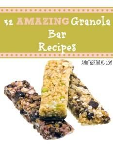 32 amazing granola bar recipes by @amotherthing