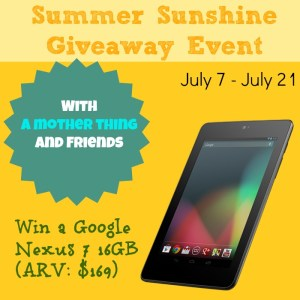 Win a Google Nexus 7 16gb tablet pc at amotherthing.com