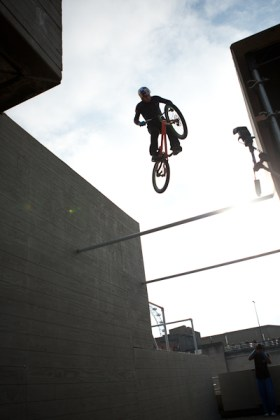 Danny Macaskill silhouette gap jump art of motion london