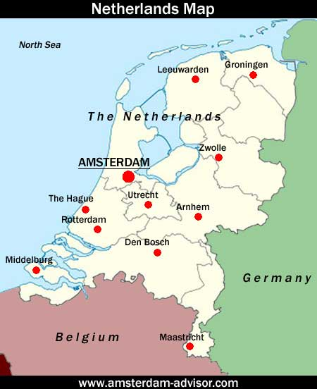 Netherlands Map Free Colorful Netherlands Map Vector Download Free