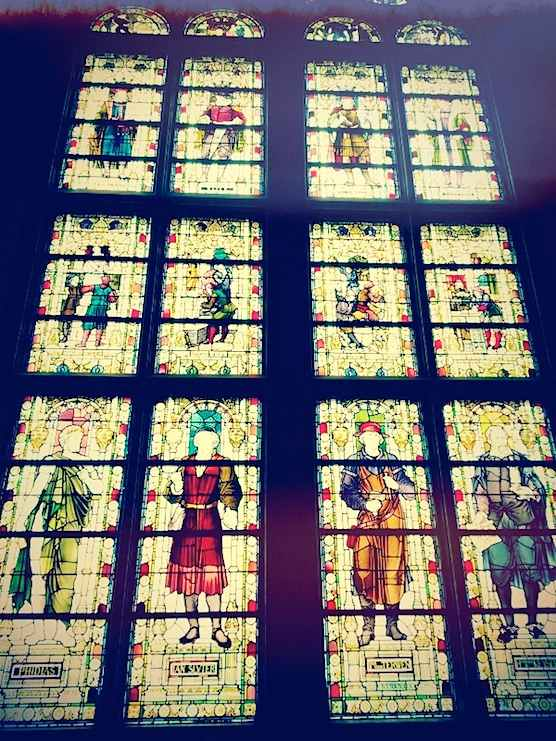 Stained glass in Amsterdam's Rijksmuseum.