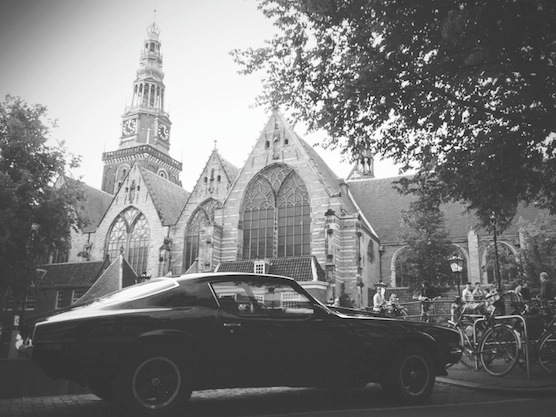 The Old Church in Amsterdam's Red Light District in  May 2014.
