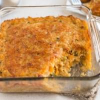 Very veggie lentil bake