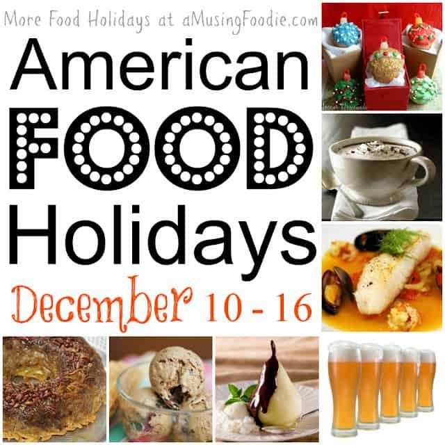 american food holidays, december food holidays