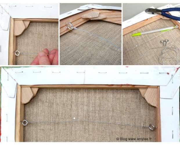 comment placer cable acier dos toile artiste