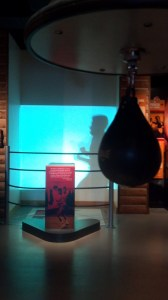 Shadow boxing and working the speed bag in the aura of The Champ.