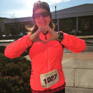 Sending love to my pal Meghan and reminding myself to love the run.