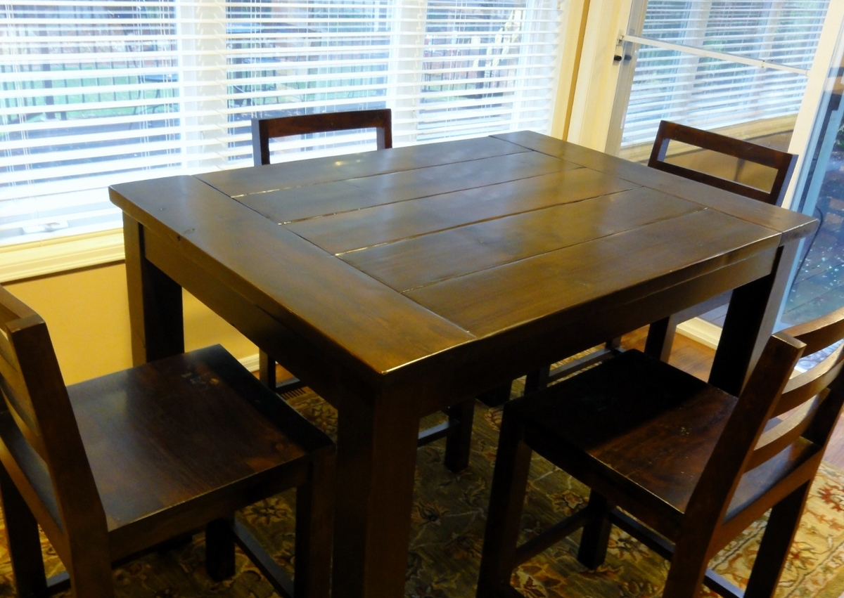 tryde counter height kitchen table diy kitchen table plans