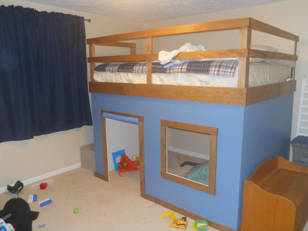 Radiant Ana Queen Loft Bed Diy Projects Queen Bunk Bed Wood Queen Bunk Bed Mattress houzz-02 Queen Bunk Bed