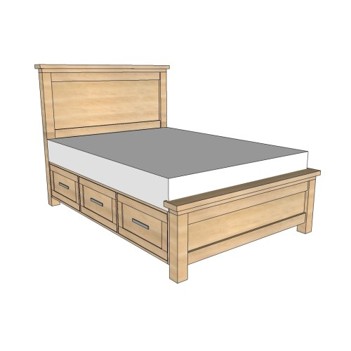 Medium Crop Of Queen Bed Frame Wood