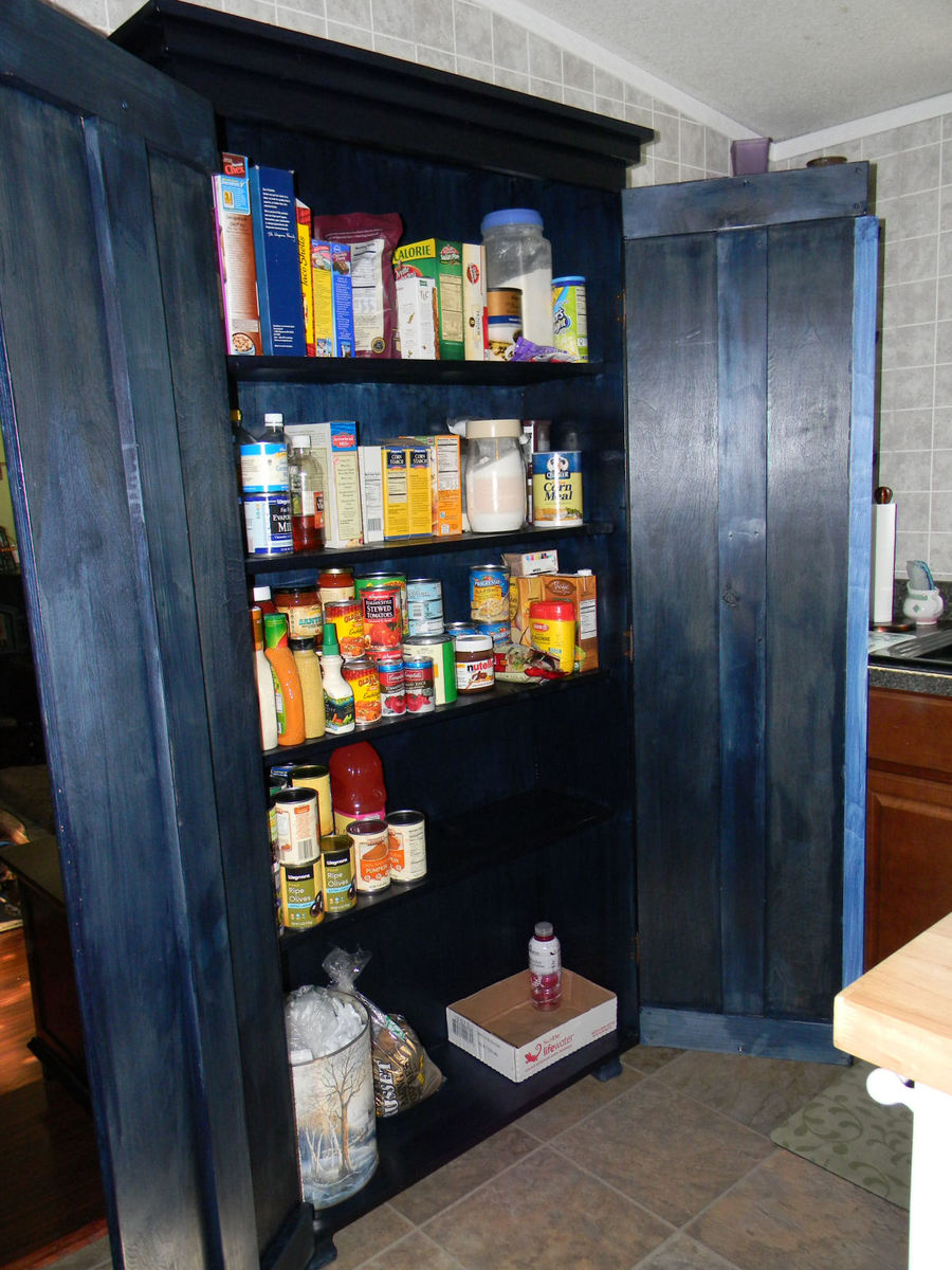 simplest armoire kitchen pantry mobile home kitchen remodel Simplest Armoire as Kitchen Pantry