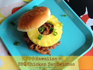 hawaiian bbq chicken sandwiches