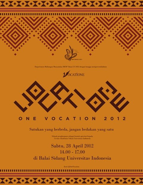 Poster One Vocation