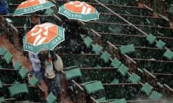 Tormenta interrumpe partidos de tercera ronda de Roland Garros