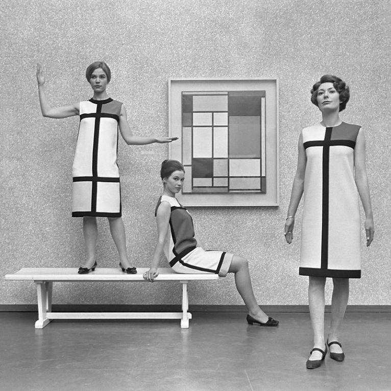 Colección de Yves Saint Laurent inspirada en Piet Mondrian