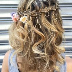 Aros en el cabello