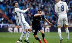 Juanpi Añor anotó su segundo gol de la temporada ante el Madrid