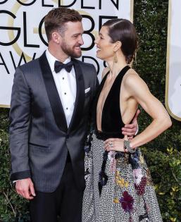 Justin Timberlake en la ceremonia de los Golden Globes 2017