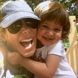 La actriz y su hija Gia