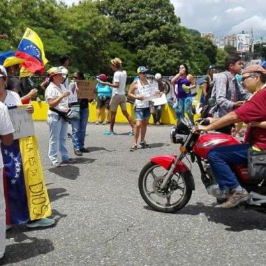 Imagen de la protesta en Carabobo