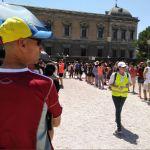Las filas estaban organizadas en la Plaza de Colón de Madrid/ Foto: Jessica Cantón