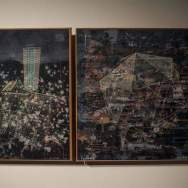 """Fotografía del 10 de octubre de 2017, que muestra las obras """"Humboldt"""" (i) y """"Petare"""" (d), de Pancho Quilici, que hace parte de la exposición """"Caracas, un lugar"""" Foro EFE"""
