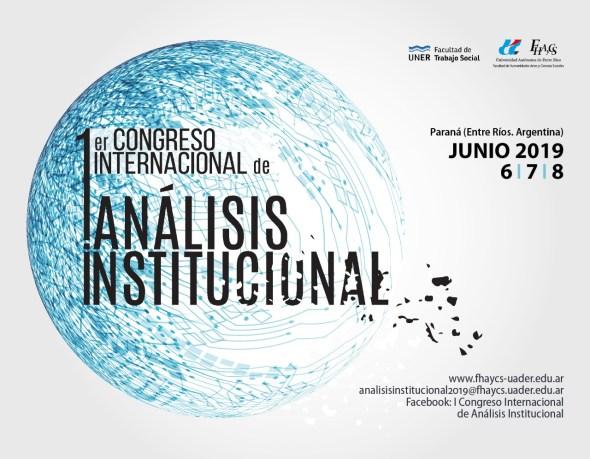 Flyer Congreso Internacional de Análisis Institucional
