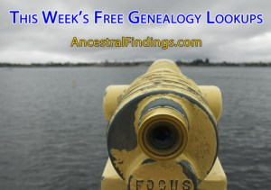 This Weeks Free Lookups