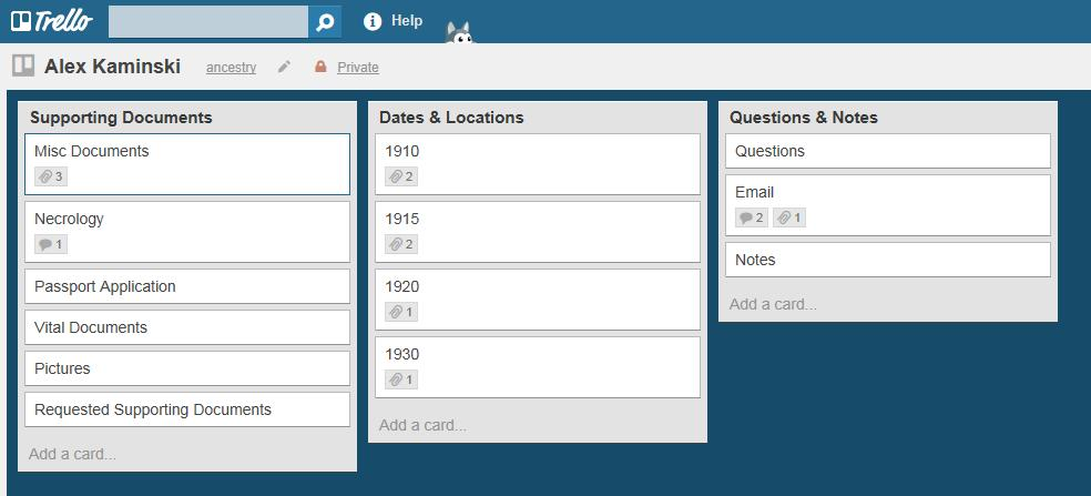 Organize your research using Trello