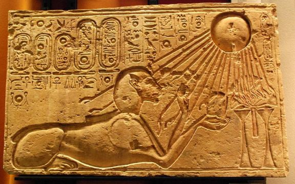 800px-Akhenaten_as_a_Sphinx_(Kestner_Museum) Akhenaten the Alien Pharaoh