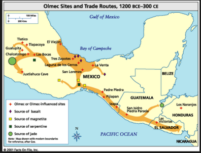 a - 0 -- Olmec trade routes 2000 BC2