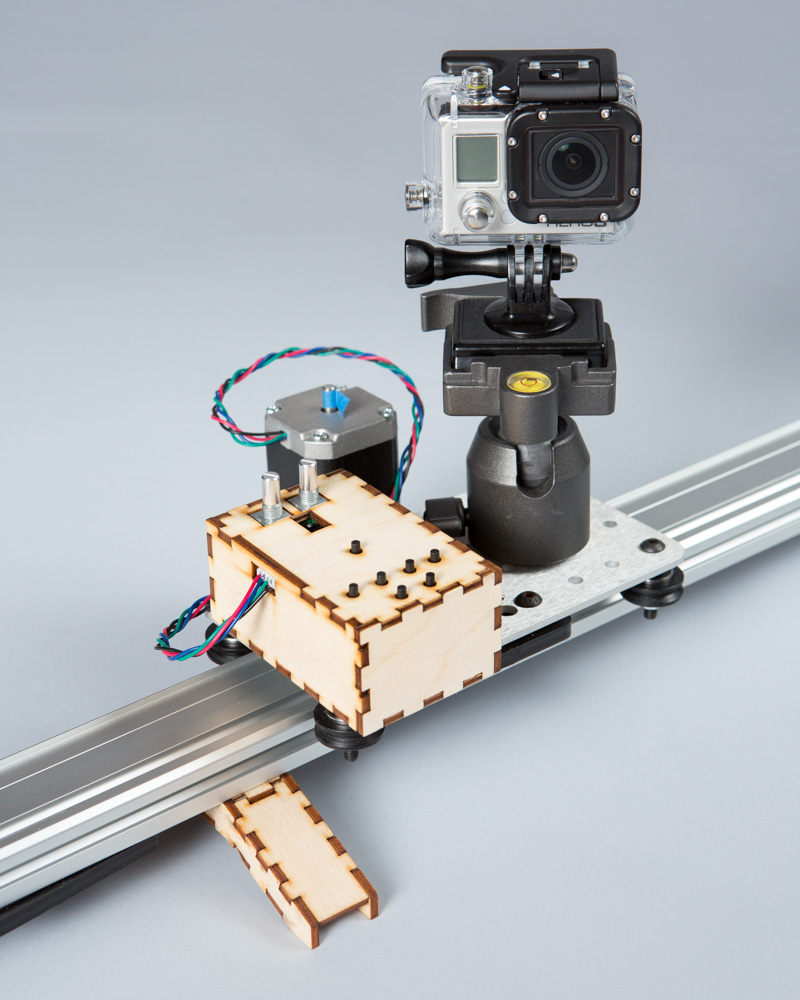 Tabbed box andbosta projects and notes by andrew albosta for Stepper motor camera slider