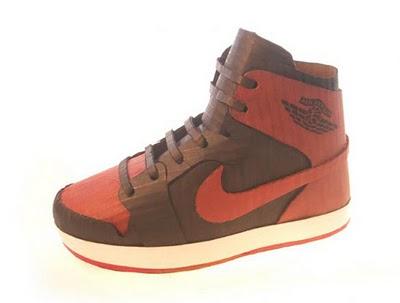 Mike Leavitt Paper Nikes